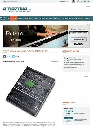Amazona.de Test: Yamaha, 01V96i, Digitalmischpult