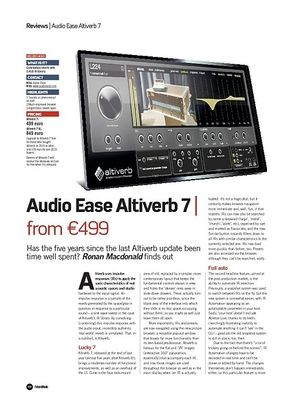 Future Music Audio Ease Altiverb 7