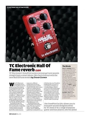 Guitarist TC Electronic Hall Of Fame reverb