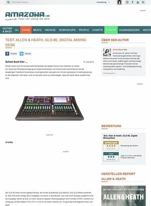 Amazona.de Test: Allen & Heath, GLD-80, Digital Mixing Desk