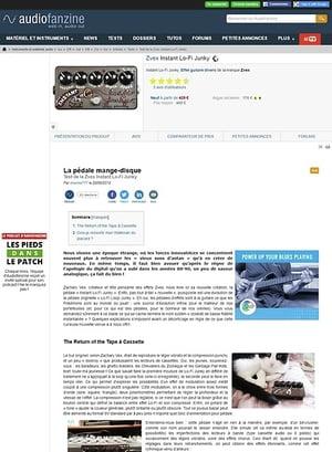 Audiofanzine.com Zvex Instant Lo-Fi Junky
