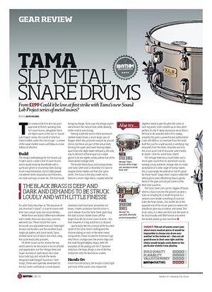 Rhythm TAMA SLP METAL SNARE DRUMS