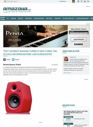 Amazona.de Test: Monkey Banana Turbo 6 und Turbo 10s, Studio Abhörmonitore und Subwoofer