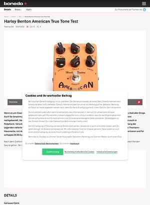 Bonedo.de Harley Benton American True Tone