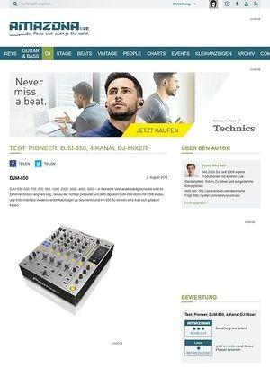 Amazona.de Test: Pioneer, DJM-850, 4-Kanal DJ-Mixer