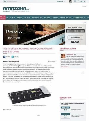 Amazona.de Test: Fender, Mustang Floor, Effektgerät für E-Gitarre