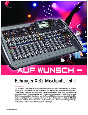 Tools4music Behringer X32 Auf Wunsch - All inclusive