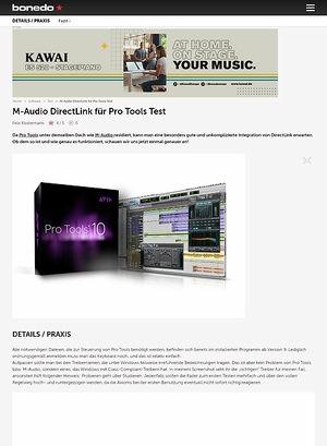 Bonedo.de M-Audio DirectLink für Pro Tools