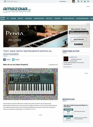 Amazona.de Test: Dave Smith Instruments Mopho x4, Synthesizer