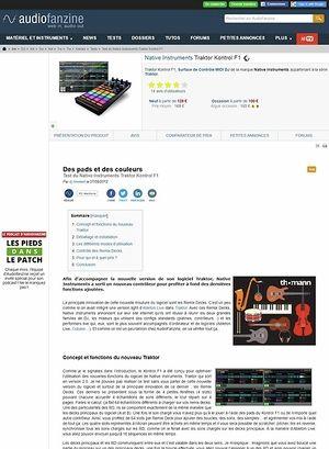 Audiofanzine.com Native Instruments [Traktor Series] Traktor Kontrol F1
