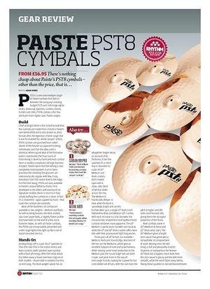 Rhythm Paiste pst 8 Cymbals