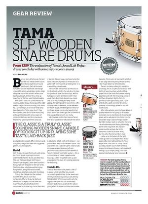 Rhythm Tama SLP Wooden Snare Drums