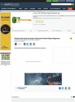 Audiofanzine.com Fender [Artist Signature Series] Richie Kotzen Telecaster - Surf Green