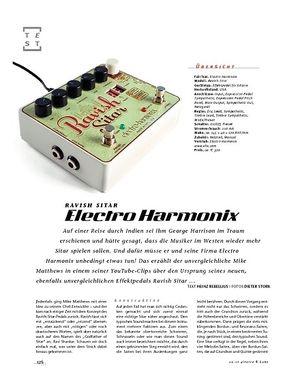 Gitarre & Bass Electro Harmonix Ravish Sitar, Effekt-Pedal