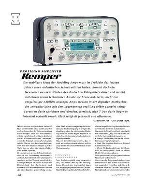Gitarre & Bass Kemper Profiling Amplifier