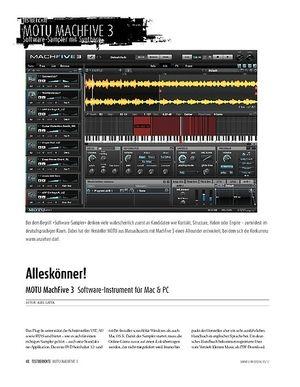 Sound & Recording MOTU MachFive 3: Software-Sampler für Mac & PC