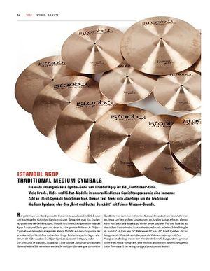 Sticks Istanbul Agop Traditional Medium Cymbals