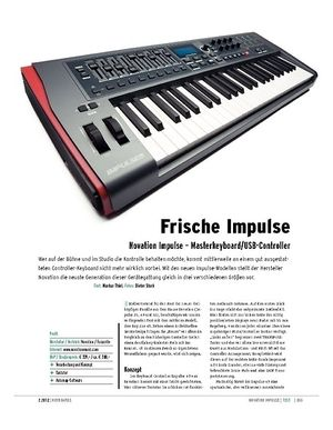 Keyboards Novation Impulse – Masterkeyboard/USB-Controller