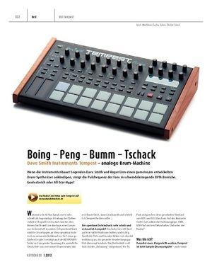 Keyboards Dave Smith Instruments Tempest – Analoge Drum-Machine