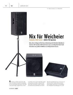 Keyboards Yamaha DSR-Serie – Aktiv-PA-System