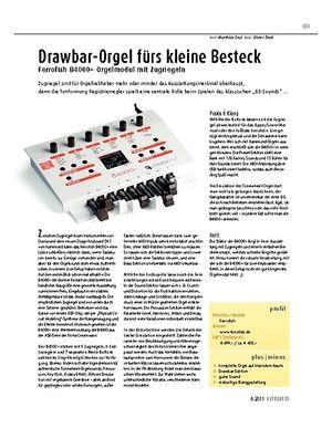 Keyboards Ferrofish B4000+ – Orgelmodul mit Zugriegeln