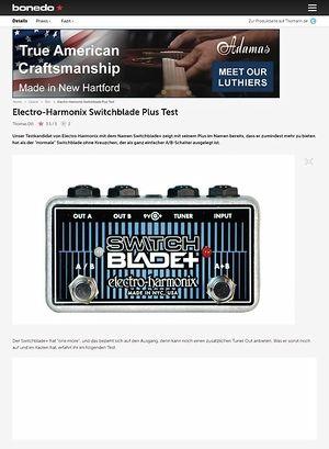 Bonedo.de Electro Harmonix Switchblade Plus