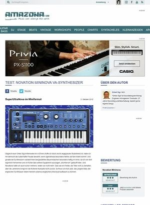 Amazona.de Test: Novation, Mininova, Synthesizer