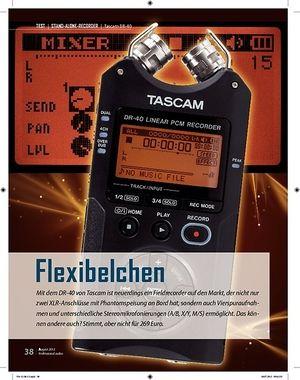 Professional Audio Flexibelchen Tascam DR-40