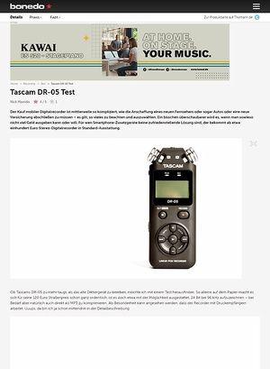 Bonedo.de Tascam DR-05