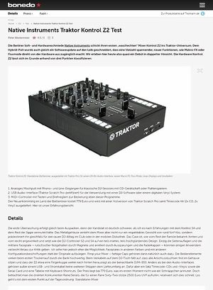 Bonedo.de Test Preview Traktor Kontrol Z2