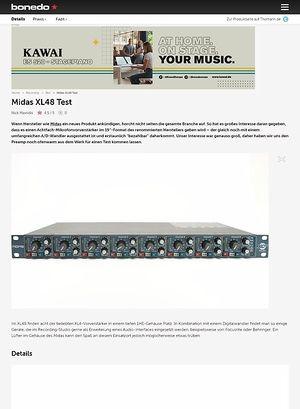 Bonedo.de Test Preview: MIDAS XL48