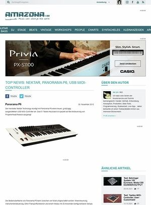 Amazona.de Top News: Nektar, Panorama P6, USB MIDI-Controller