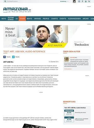 Amazona.de Test: ART, USB Mix, Audio-Interface