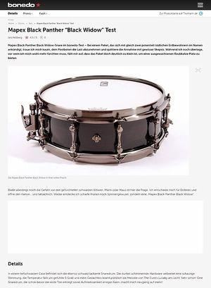 Bonedo.de Mapex Black Panther Black Widow Test