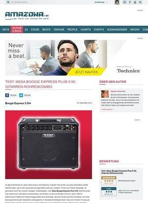 Amazona.de Test: Mesa Boogie, Express Plus 5:50, Gitarren-Röhrencombo