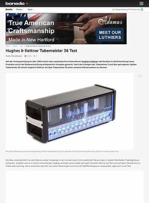 Bonedo.de Hughes & Kettner Tubemeister 36 Test