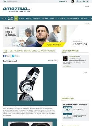Amazona.de Test: Ultrasone, Signature, DJ-Kopfhörer