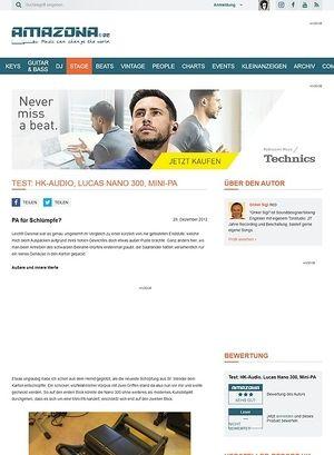 Amazona.de Test: HK-Audio, Lucas Nano 300, Mini-PA