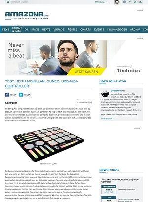 Amazona.de Test: Keith McMillan, QuNeo, USB-MIDI-Controller