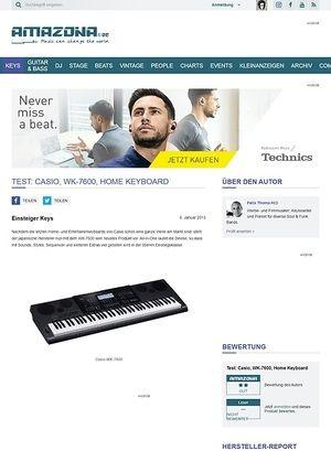 Amazona.de Test: Casio, WK-7600, Home Keyboard