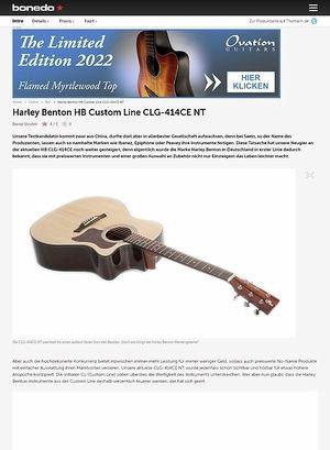 Bonedo.de Harley Benton HB Custom Line CLG-414CE NT