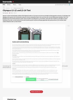 Bonedo.de Olympus LS-12 und LS-14 Test