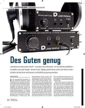 Professional Audio Des Guten genug Lake People G103 und G109