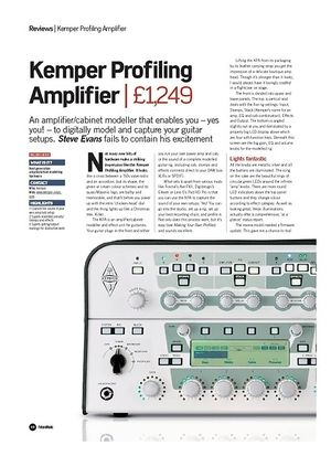 Future Music Kemper Profiling Amplifier