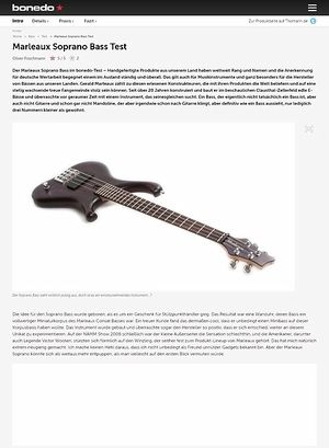 Bonedo.de Marleaux Soprano Bass Test
