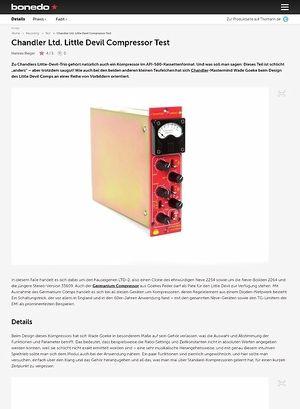 Bonedo.de Chandler Ltd. Little Devil Compressor Test