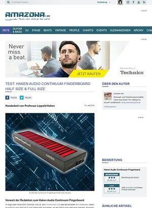 Amazona.de Haken Audio Continuum Fingerboard Half Size & Full Size
