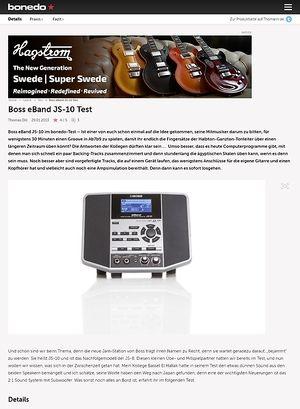 Bonedo.de Boss eBand JS-10 Test