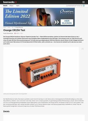 Bonedo.de Orange OR15H Test