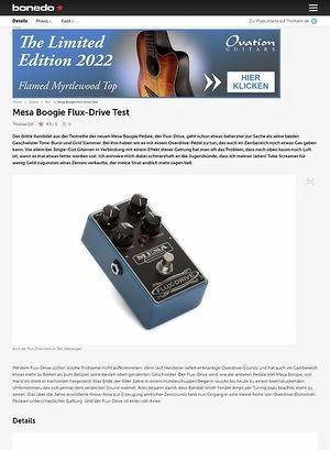 Bonedo.de Mesa Boogie Flux-Drive Test